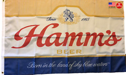 Hamms Beer Flag 3x5 Case 3 X 5 Banner Man Cave Bar New Fast Usa Shipping