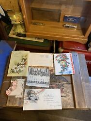 Vintage Various Paper Items 1900-1949 Cards, Letters, Invitation, Ink Blotter