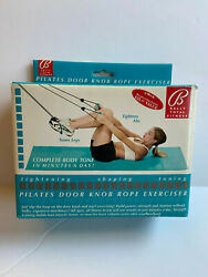Bally Total Fitness Pilates Door Knob Rope Resistance Bands Bf7633tq .