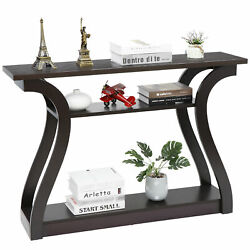 47 Console Table Modern Accent Side Stand Sofa Entryway Hall Display Storage