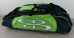 Boombah Spartan Rolling Pack Navy Green Missing Front Flap