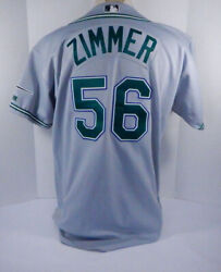 2004 Tampa Bay Devil Rays Don Zimmer 56 Game Used Grey Jersey Dp06401