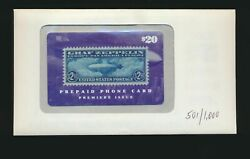 1990's Graf Zeppelin Phone Card D 501/1000 With Envelope