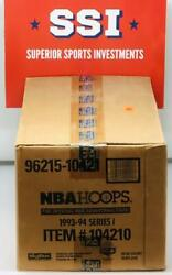 1993-94 Hoops Series 1 Basketball Sealed 20 Box Case