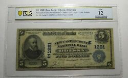 5 1902 Odessa Delaware De National Currency Bank Note Bill Ch. 1281 Pcgs F12