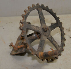 Antique 1903 Sprocket And Peddle Mount Early Collectible Lathe Grinder Part Tool
