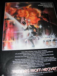 Pennies From Heaven Bernadette Peters 1981 Promo Poster Ad