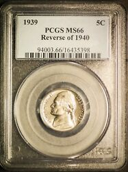 1939 Reverse Of 1940 5c Ms 66 Jefferson Nickel Coin Us Mint Collector