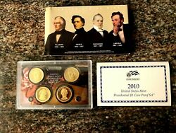 2010- 2015 Six Presidential Proof Sets W/official Gvt Packaging And Coa 24 Coins