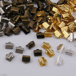 Cord End Cap Tips Connector Termination Fold Over Crimp Necklace Findings