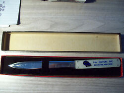 Nos 1960's Vw Letter Opener From Rochester N.y. F-a Motors Inc Mib Volkswagen