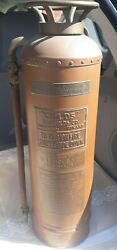 Old Childs Fire Extinguisher O.j.childs C.o. Empty
