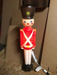 """Blow Mold Toy Soldier Light Up General Foam Christmas Decoration Display 30"""""""