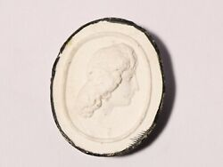 19thc High Relief Bust Plaster Moulded Tassie Intaglio Seal Grand Tour P33