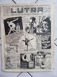 Drawing Original Bd 1928 Household Appliances Lutra Power Sign Jean Guelin