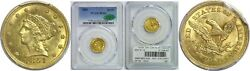 1851 2.50 Gold Coin Pcgs Ms-63 Cac