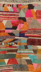 Abstract Moroccan Modern Berber Oriental Area Rug Plush Wool Hand-knotted 5x8 Ft