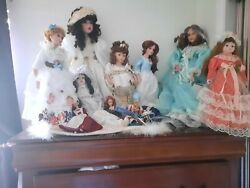 Porcelain Dolls Vintage With Stand And Authentic Paper Work No Smokers No Pets