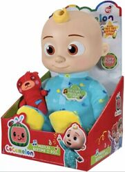 Cocomelon Musical Bedtime Jj Soft Body Doll And Teddy Bear Sings Yes Yes New