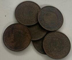 1/2 Pice George Vi King Emperor Mixed Dates British India High Grade Coins 20 Pc
