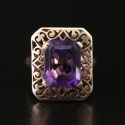 Antique Arts And Crafts Gold Amethyst Ring