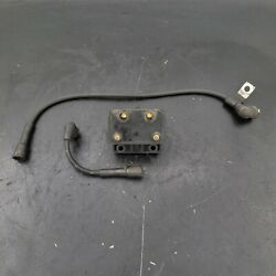 1988 Harley Flht Police Special Oem Ignition Coil W/ Spark Plug Wires 31614-83