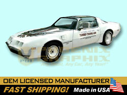 1980 Trans Am Turbo Indy 500 Allure Voiture Ultimate Firebird T/a Sticker And Rayandeacute