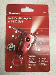 Snap-on 7-function Multi-function Keychain With Led Light - - New