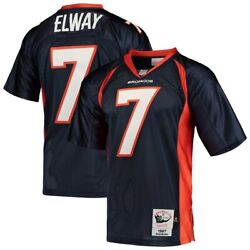 Denver Broncos John Elway 7 Mitchell And Ness Navy 1997 Authentic Retired Jersey
