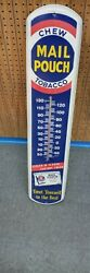 Vintage Large Mail Pouch Chewing Tobacco Advertising Thermometer