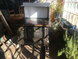 Antique Atlantic Wood Cook Stove Made In Portland Maine In Working Condition.