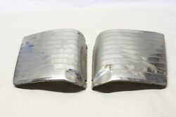 Original 1950and039s Gravel Stone Guard Ribbed Moulding Trim Pair Chevy Ford Mopar