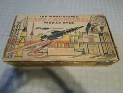 Set Box Only For Vtg Marx-atomic Cape Canaveral Missile Base Play Set Box Only