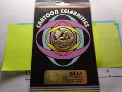 Plastic Man 1982 Cartoon Celebrities Gold On Bronze Sealed On Card Coin Rare A