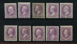 O25-o34 Justice Department Official Complete Mint/unused Set Of 10 Stamp O33-1