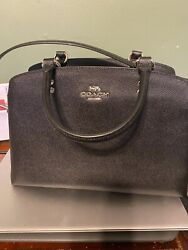 New Authentic Black Leather Lilli Carryall Coach Bag $90.00