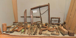 Antique Cooper Tool Lot Wood Block And Molding Plane Marking Specialty Vintage C6