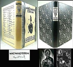 1930 Madman's Drum Signed Lynd Ward 1st Edition Fine Dj Wordless Occult Macabre