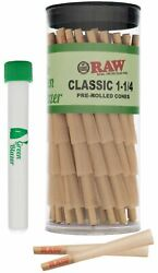 Raw Cones Classic 1 1/4 Size 50 Pack - Pre Rolled Cones With Filter Tips