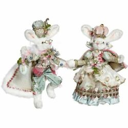 Mark Roberts 2021 Mr. And Mrs. Royal Court Bunny Assortment Of 2 Small