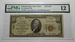 10 1929 Schenectady New York Ny National Currency Bank Note Bill 1226 Pmg F12
