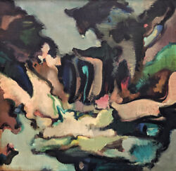 William Horace Littlefield Abstract Expressionism 1956 Oil On Masonite