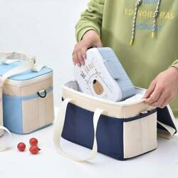 Insulated Thermal Cooler Lunch Box Portable Tote Picnic Storage Cross Bags Case $13.10