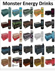 Monster Energy Drink Bulk Wholesales Multiple Flavour Can 12x 24x50cl Ripper