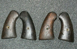 Ww2 Original Walnut Wood Pair Grips And Screw Look Like Colt 1917 Us Army Smaller