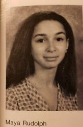 Maya Rudolph Personal Hs Yearbooks X 4 Hollywood Snl Actress / Comedian