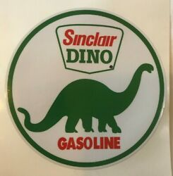 5 Sinclair Dino Decal - New / Free Shipping / Gas Pump Decals Gas And Oil