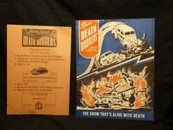 1940's Jimmie Lynch Death Dodger's Show Program + Event's Youngstown Auto Car