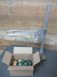 Vintage Triumph No. 5 Beer Wine Soda Bottle Capper Tool With Caps