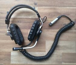 Vintage Telex Aviation Headset With Mic Tested Free Shipping Aircraft Vintage